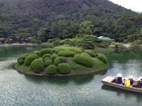 香川 栗林公園の池